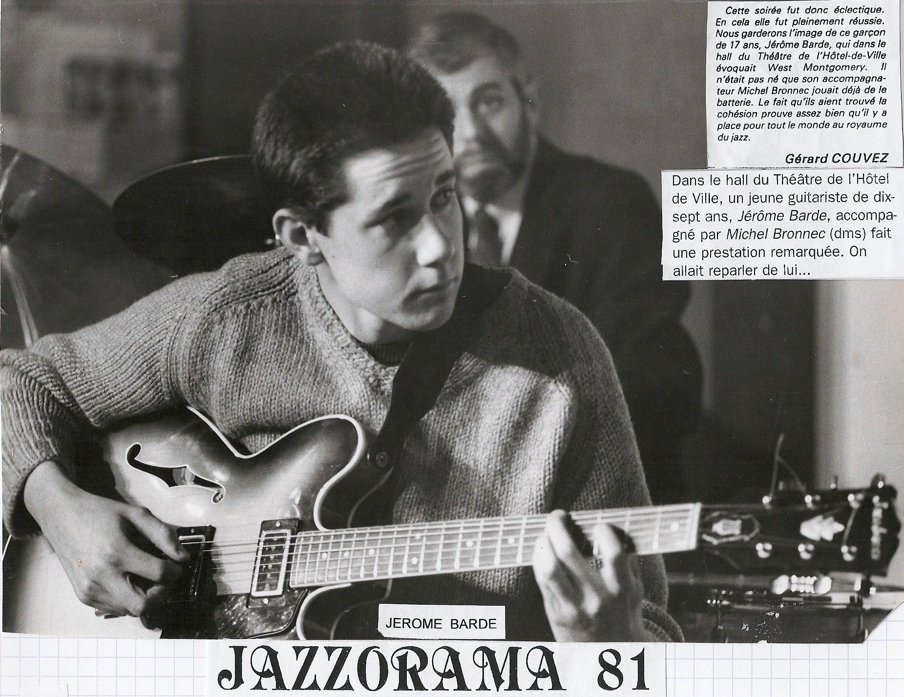 1981 JAZZORAMA avec JEROME BARDE - copie